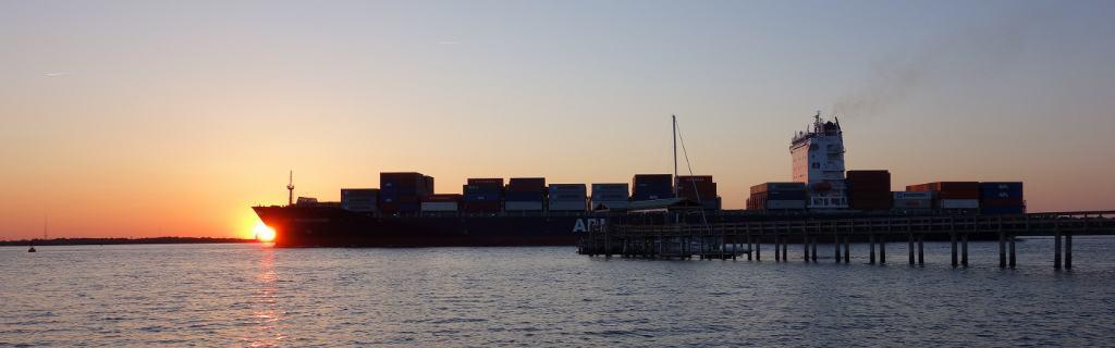 Container Ship Wando River