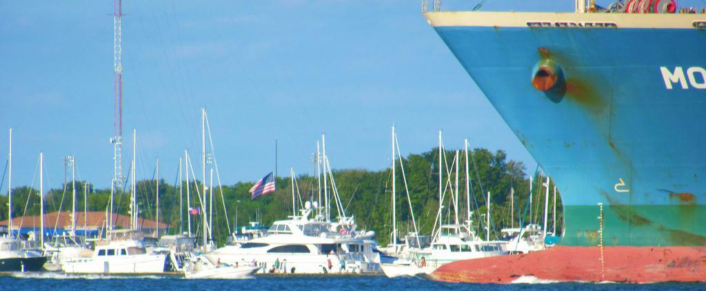 Ship Charleston Harbor